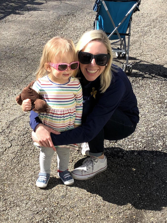 German teacher Caroline Adducci with her daughter, Hazel.