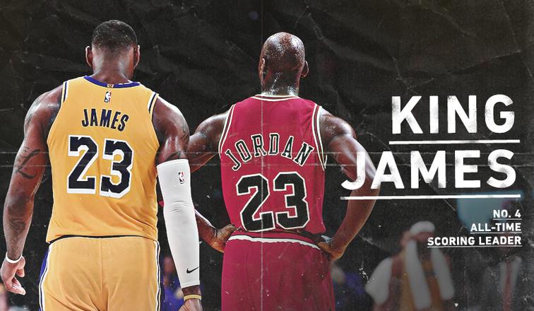 LeBron James Passes Michael Jordan on All-Time Points Leader List