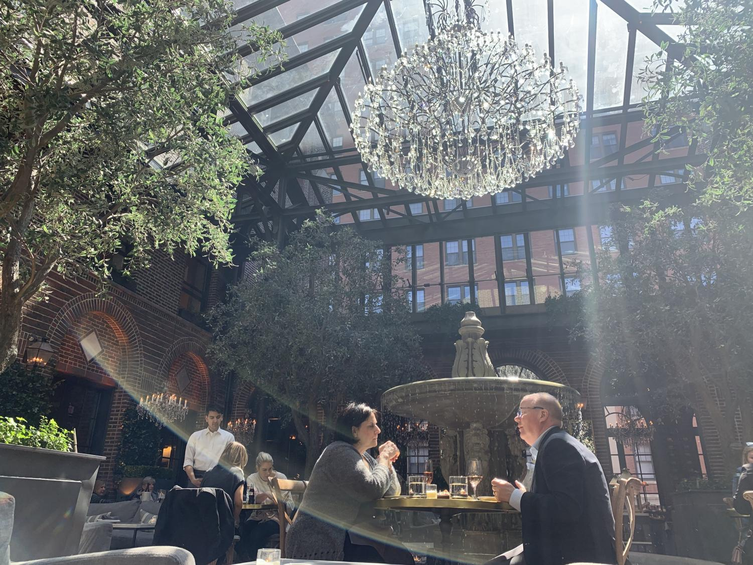 The Grand Courtyard in the 3 Arts Club Cafe.