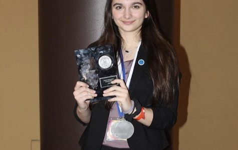 Junior Ana Urosev after qualifying for Nationals at DECA state compeition.