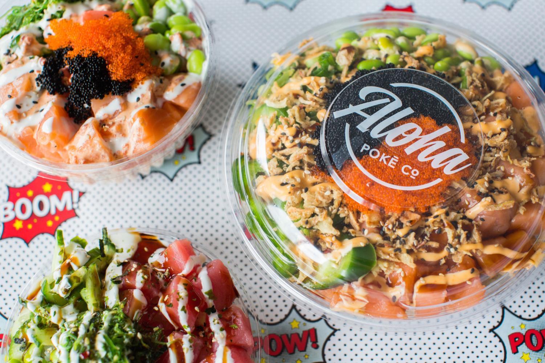 Aloha Poke is a nearby restaurant that features Hawaiian poke bowls.