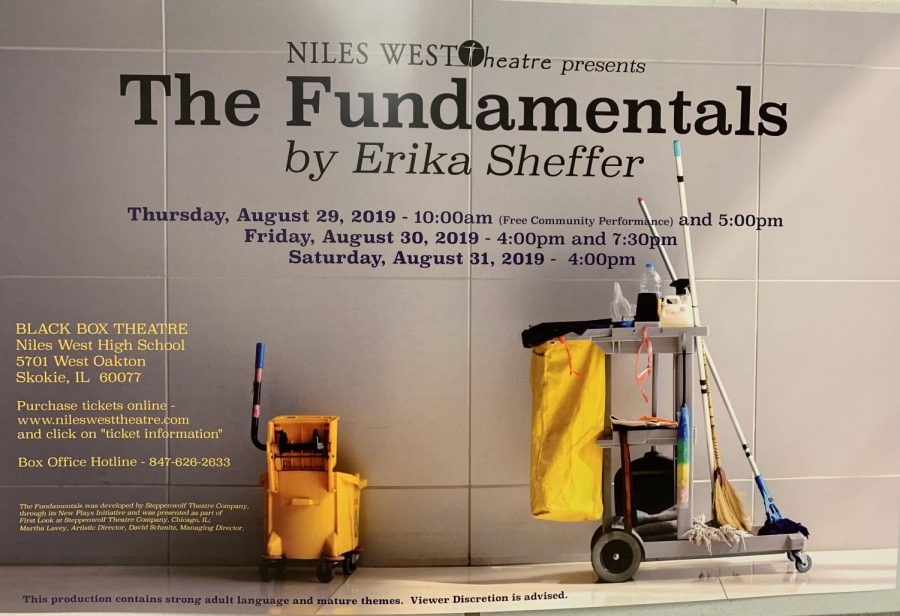Poster for Niles West Theatre's upcoming show,