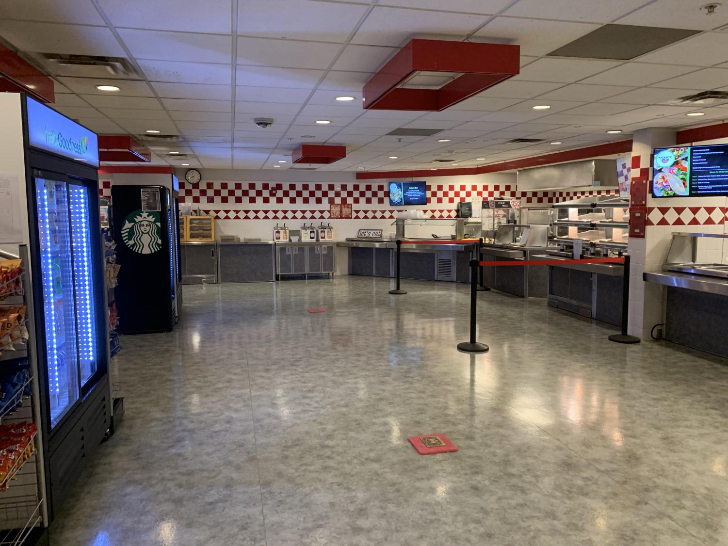 The new layout of the Questfood food service at West