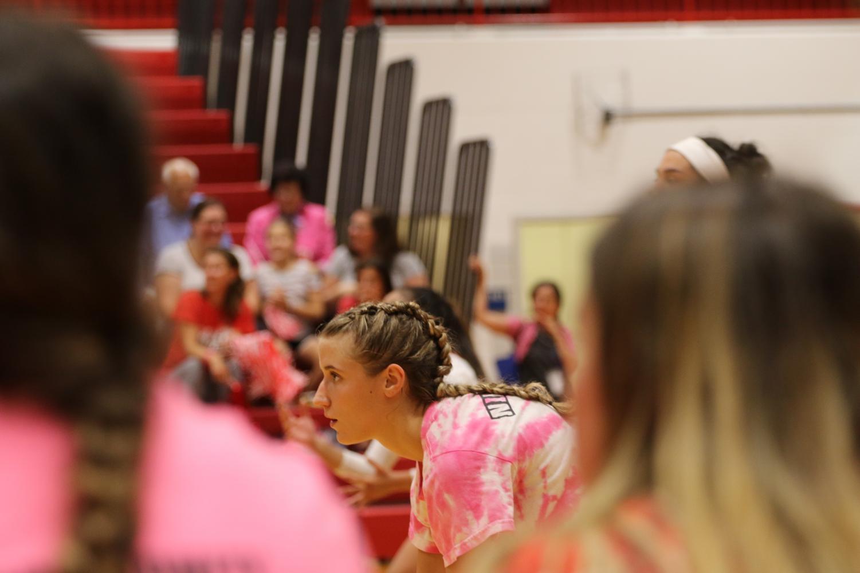Sophomore+Gianna+Pehar+focused+on+winning+the+game.