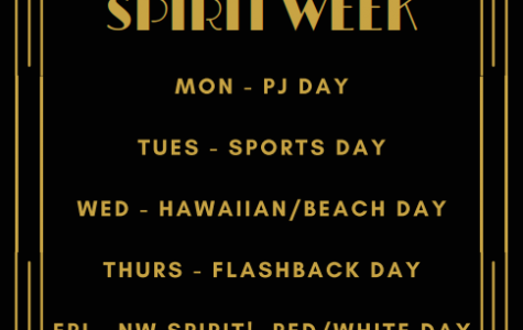 The themes for spirit week are listed in the Great Gatsby theme