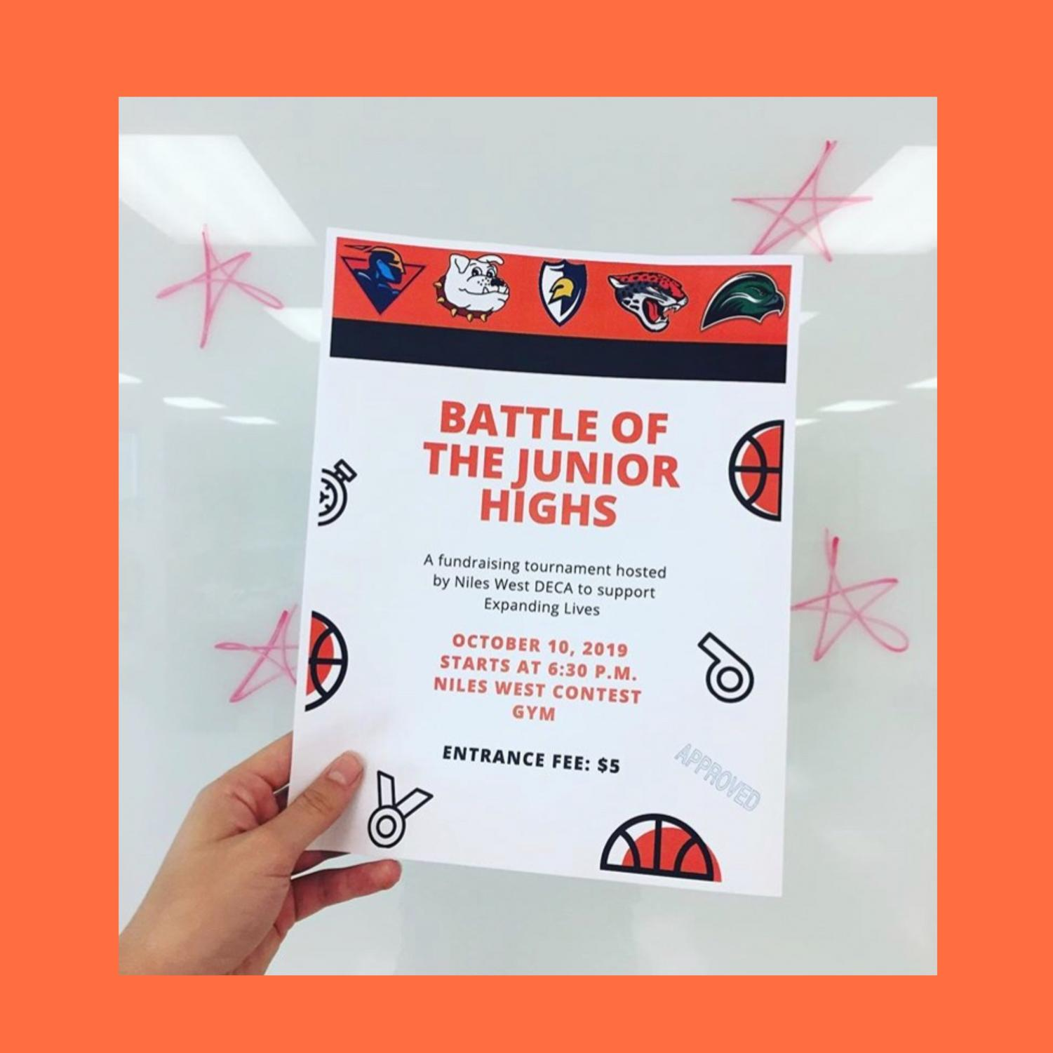 DECA flyer for the Battle of the Junior Highs.