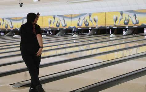 Niles West bowler demonstrates pro form.