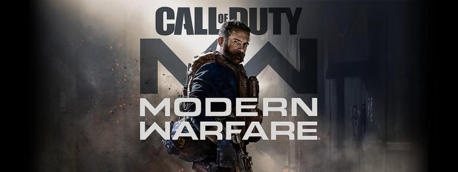 Poster+for+recent+Call+of+Duty+Modern+Warfare+video+game.+