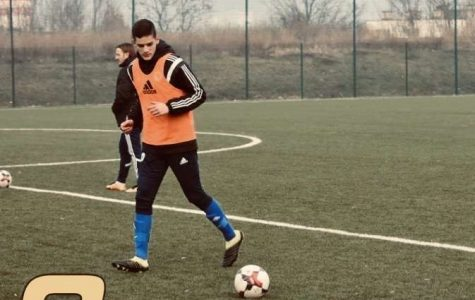 Junior Faris Rahic practices at the Bosnian national team camp.