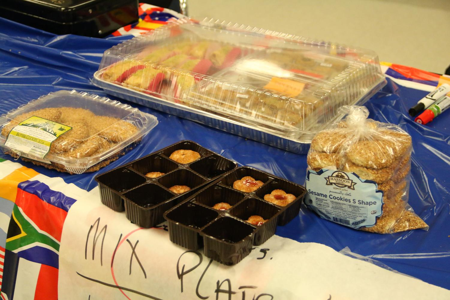 Assyrian club sells authentic cookies for the international feast.