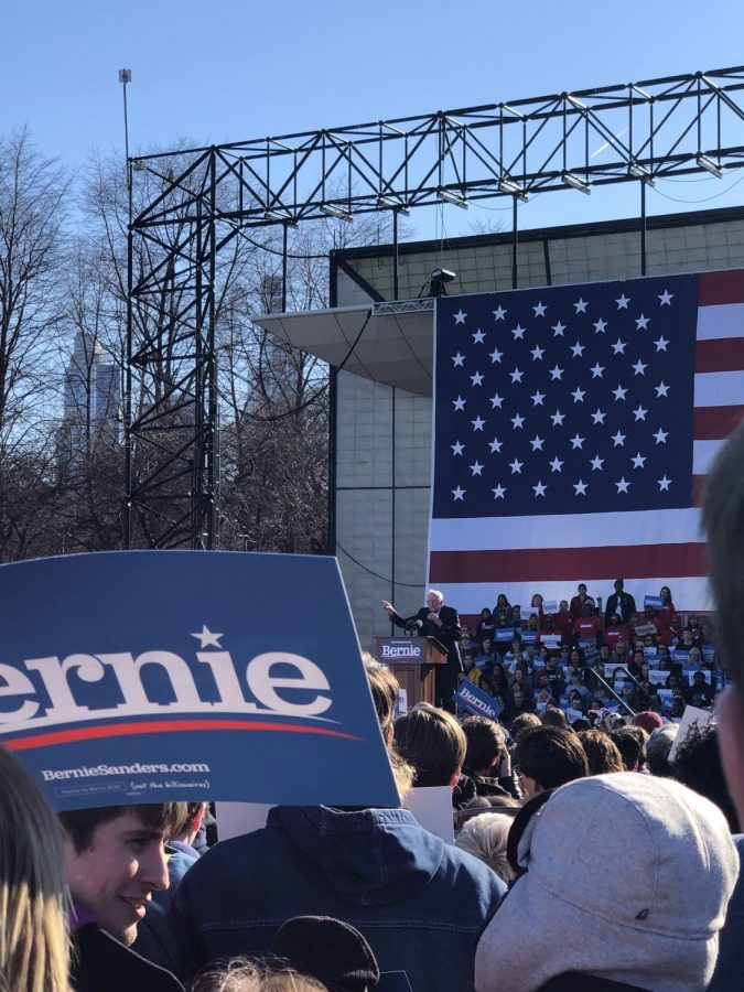 West Seniors attended a Bernie Sanders rally a week before the Illinois primary.