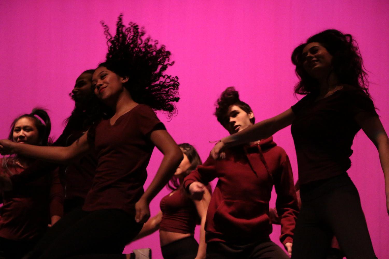 Sophomore+Paula+Jimenez+enjoying+herself+as+she+performs+a+hip+hop+dance.+