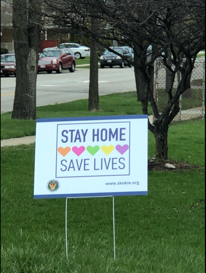 The village of Skokie has distributed these encouraging signs everywhere for all to see.
