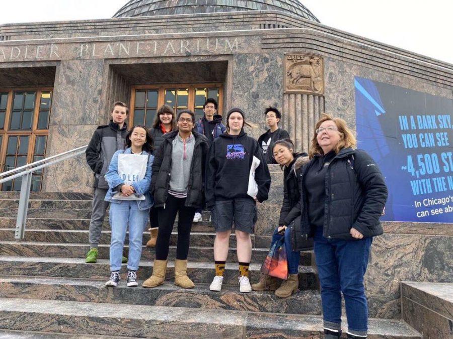 Astronomy Club's field trip to Adler Planetarium last year.