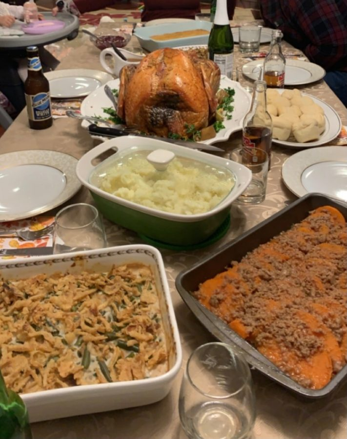 Thanksgiving Dinner at sophomore Victoria Kutkovska's home.