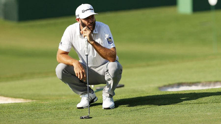 Dustin+Johnson+during+the+2020+Masters.+