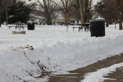 Some of the sidewalks cleared for others to walk across and enjoy the winter views.