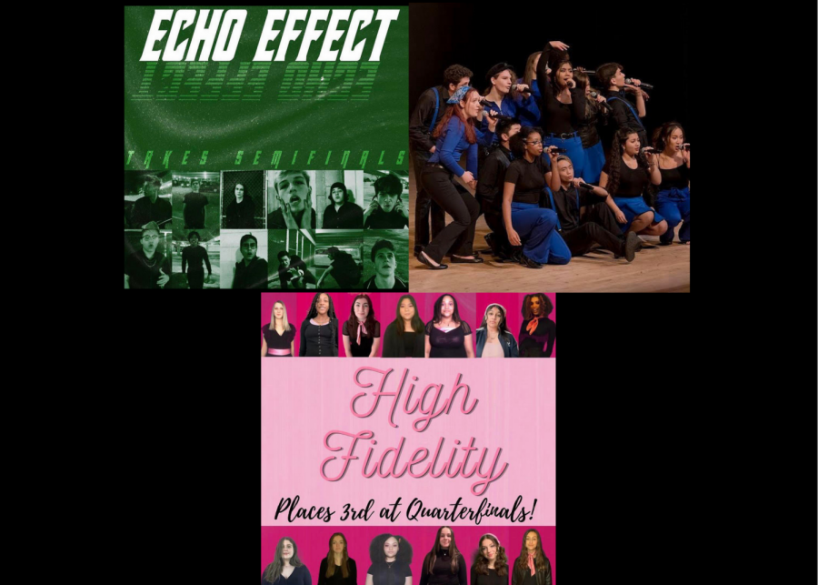 Group members of A Cappella Groups Echo Effect, Tonal Eclipse, and High Fidelity.