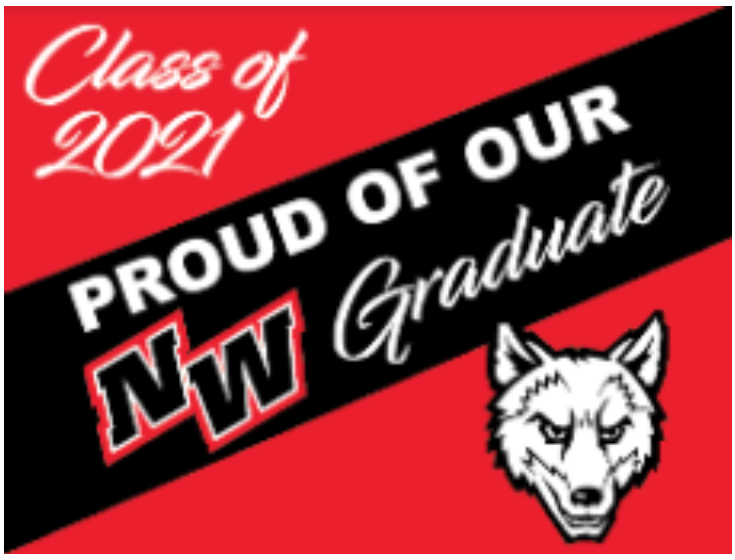 Lawn sign design for the graduating class of 2021.