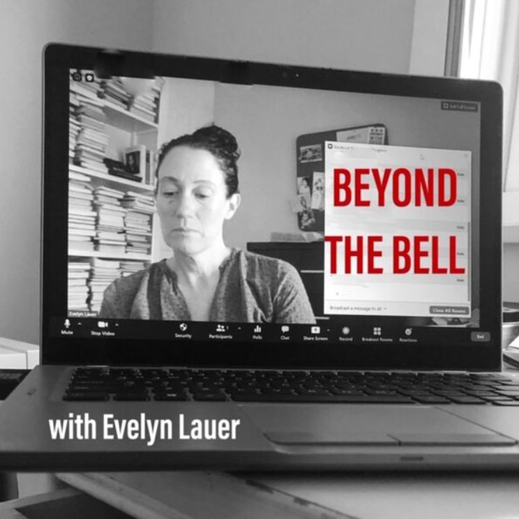 Podcast+cover+for+Beyond+the+Bell+hosted+by+Evelyn+Lauer.