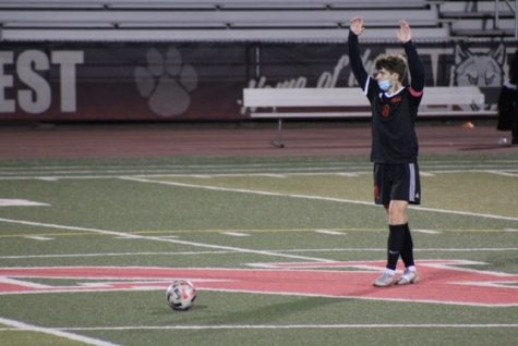 Senior Gio Terlizzi giving the all clear to give the free kick.