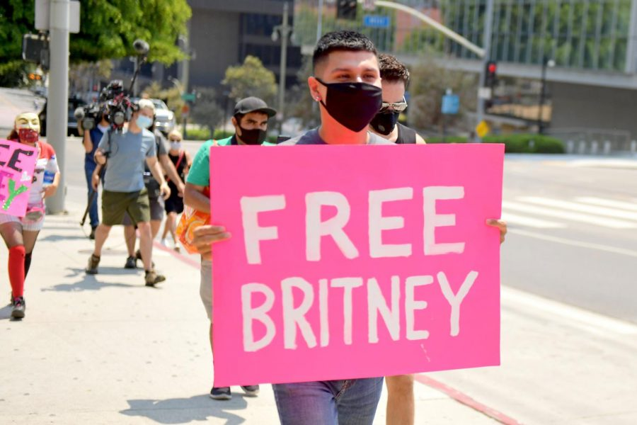 Britney Spearss fans protest using #FreeBritney to show their support.