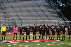Niles West lining up before the game.