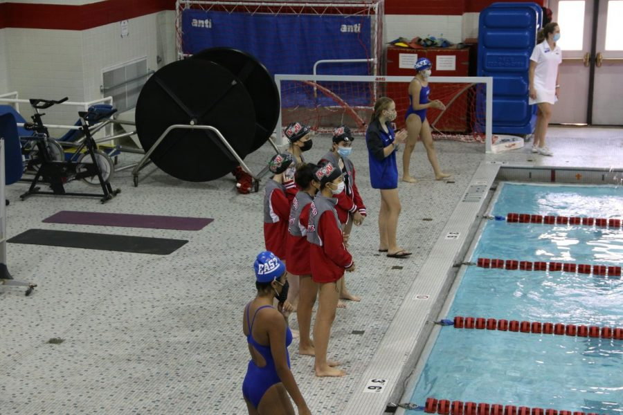 Niles West and Maine East cheering their teammates on.