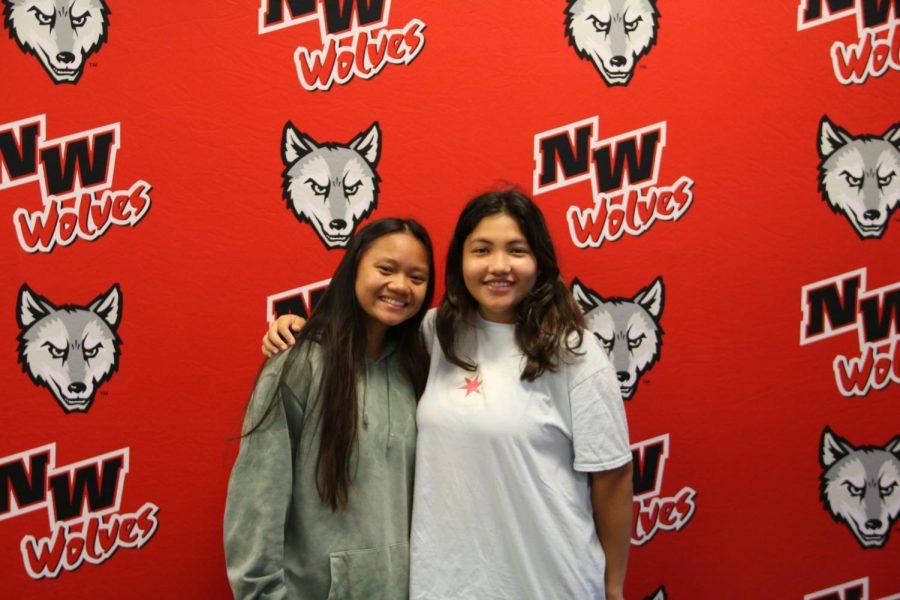 2021 Girls Varsity Tennis state qualifiers: Senior Abby Penados and Junior Sofia Velasco.