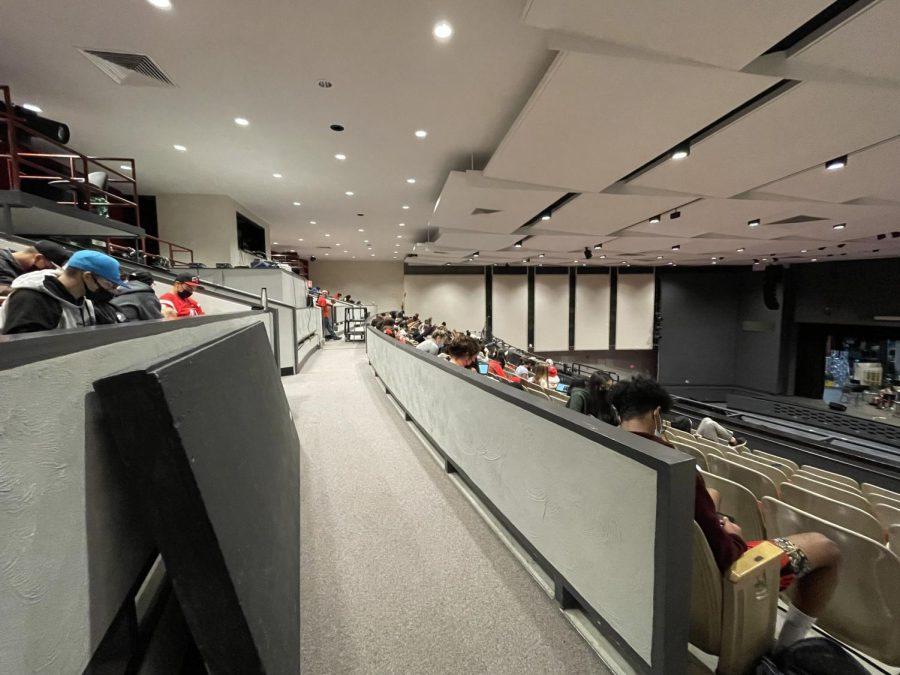 Auditorium balcony study hall during second period